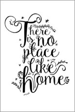Print på skumplade  There is no place like home - Dani Jay Designs