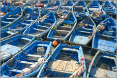 Premium-plakat Boats in the fishing port