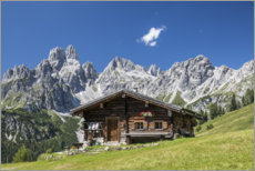 Galleritryk  Alpine hut in the Austrian Alps - Gerhard Wild