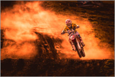 Lærredsbillede  Motocross in the mud - Salkov Igor
