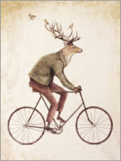 Lærredsbillede  Deer on the bike - Mike Koubou