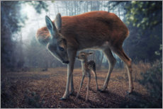 Premium-plakat Mother and fawn