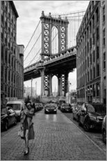 Lærredsbillede  Brooklyn with Manhattan Bridge - Robert Bolton