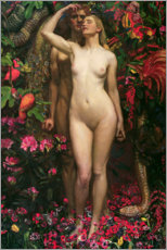 Lærredsbillede  Adam and Eve with the snake - Byam Shaw