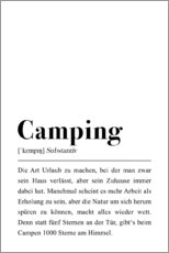 Print på aluminium  Camping Definition (tysk) - Pulse of Art