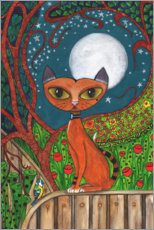 Premium-plakat The cat and the moon