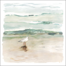 Galleritryk  Seagull on the beach I - Victoria Borges