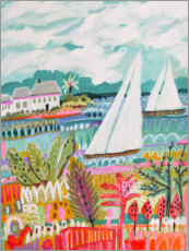 Premium-plakat Two Sailboats and Cottage II
