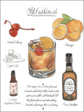 Premium-plakat Classic Cocktail - Old Fashioned