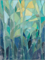 Premium-plakat Stained Glass Forest I