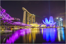 Premium-plakat  Marina Bay, Singapore by night - Fraser Hall