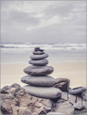 Akrylbillede  Stone tower on the beach - Andrea Haase Foto