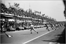 Akrylbillede  Start of the 24 Hours of Le Mans race, 1963