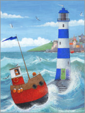 Akrylbillede  Blue Lighthouse - Peter Adderley