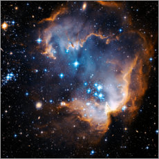 Akrylbillede  Starbirth region NGC 602 - NASA