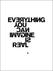 Premium-plakat Everything you can imagine is real (Picasso), hvid