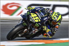 Akrylbillede  Valentino Rossi, Yamaha Factory Racing, Valencia GP 2019