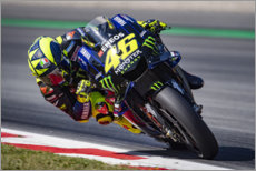 Akrylbillede  Valentino Rossi, Yamaha Factory Racing, Catalan GP 2019