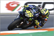 Akrylbillede  Valentino Rossi, Yamaha Factory Racing, Valencia 2019