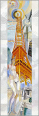 Selvklæbende plakat  The woman and the tower - Robert Delaunay