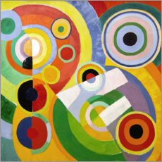 Akrylbillede  The Joy of Life - Robert Delaunay
