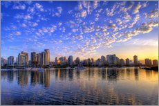Galleritryk  Sunrise over Vancouver - Chuck Haney
