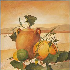 Galleritryk  Pumpkins and terracotta - Franz Heigl