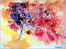 Galleritryk  Red tree - Pol Ledent