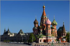 Galleritryk  St. Basil's Cathedral in Moscow - Walter Bibikow