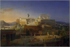 Galleritryk  The Acropolis of Athens, 1846 - Leo von Klenze