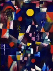 Lærredsbillede  Full moon - Paul Klee
