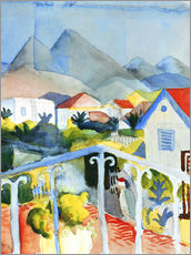 Galleritryk  Saint Germain near Tunis - August Macke