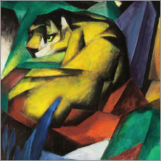 Galleritryk  Tiger - Franz Marc