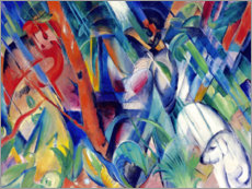 Akrylbillede  In the rain - Franz Marc