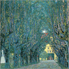 Lærredsbillede  Avenue in the Park of Kammer Castle - Gustav Klimt