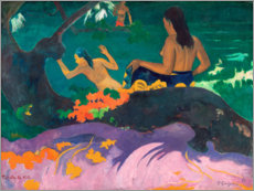 Akrylbillede  Fatata te miti (By the sea) - Paul Gauguin