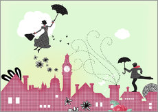 Galleritryk  Mary Poppins, London - Elisandra Sevenstar