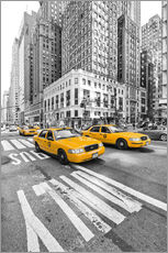 Selvklæbende plakat  New York Yellow Cab - Marcus Klepper