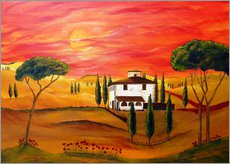 Galleritryk  Warmth of Tuscany - Christine Huwer