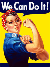 Galleritryk  Rosie The Riveter vintage war poster from World War Two - John Parrot