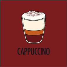 Selvklæbende plakat Cappuccino, for the italian lover in you!