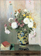 Galleritryk  Bouquet of Flowers, Chrysanthemums in a Chinese Vase - Camille Pissarro