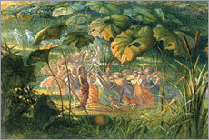 Selvklæbende plakat  Fairy Dance in a Clearing - Richard Doyle