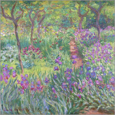 Selvklæbende plakat  The Iris Garden At Giverny - Claude Monet