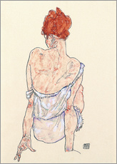 Galleritryk  Seated woman in underwear - Egon Schiele