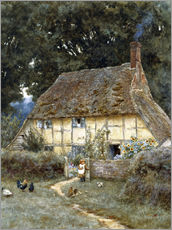 Galleritryk  On the Brook Road, near Witley - Helen Allingham