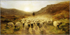 Galleritryk  Leaving the Hills - Joseph Farquharson