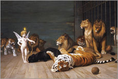 Selvklæbende plakat  Whoever you are, Here is your Master - Jean Leon Gerome