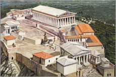Galleritryk  The Acropolis and Parthenon - Roger Payne