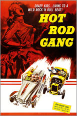 Selvklæbende plakat  HOT ROD GANG